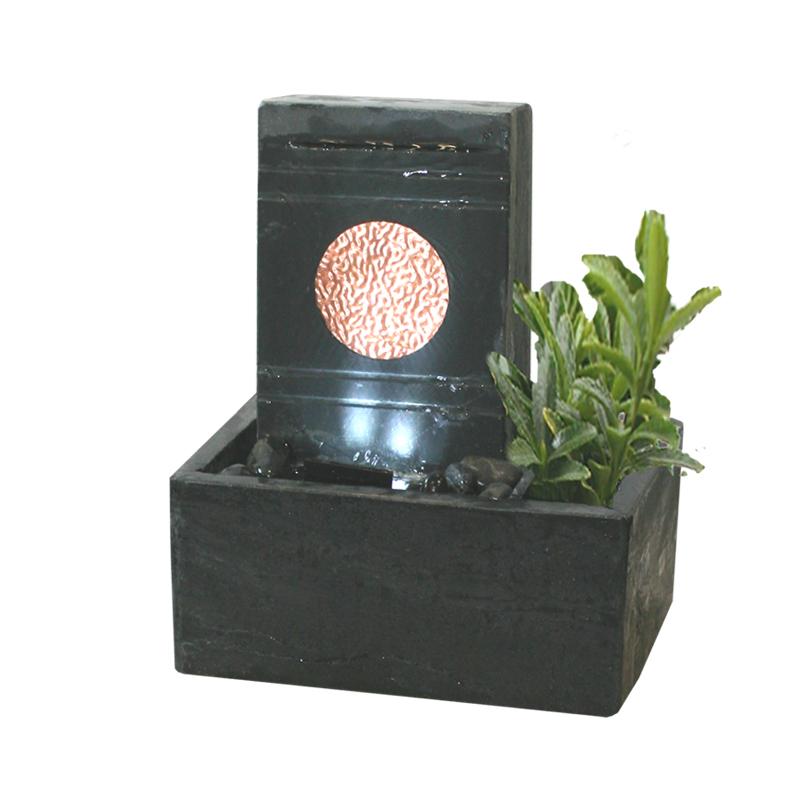tischbrunnen mit beleuchtung